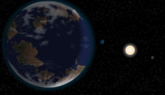 Планета HD 40307g глазами художника.