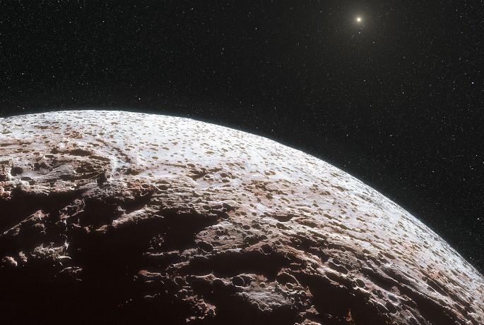 Карликовая планета Макемаке глазами художника.