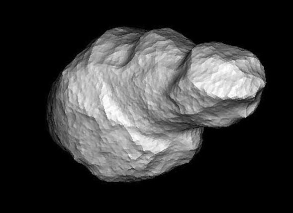 Компьютерная модель астероида Таутатис 4179.