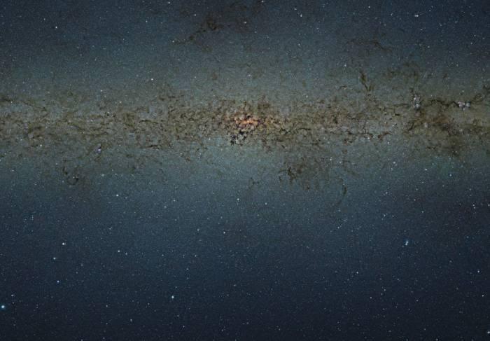 Фрагмент карты центре Млечного пути.