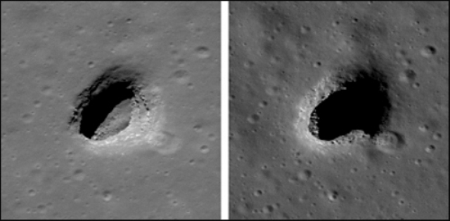 Гигантские лунные дыры