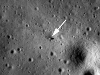 Зонд LRO снял места посадки лунных модулей Apollo