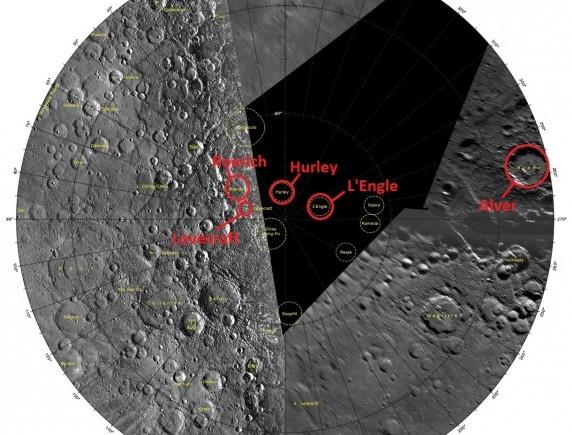 Место расположения кратеров.