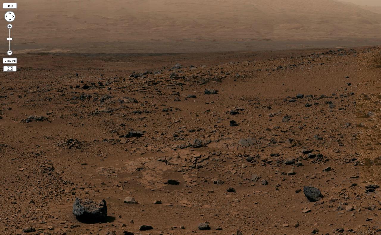 Гигантская панорама Марса