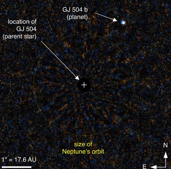 Система экзопланеты GJ 504 b.