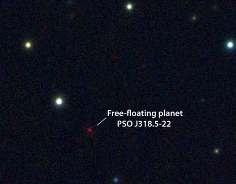 Планета PSO J318.5-2 в инфракрасном диапазоне.