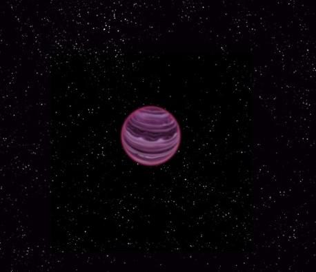 Планета PSO J318.5-22 глазами художника.