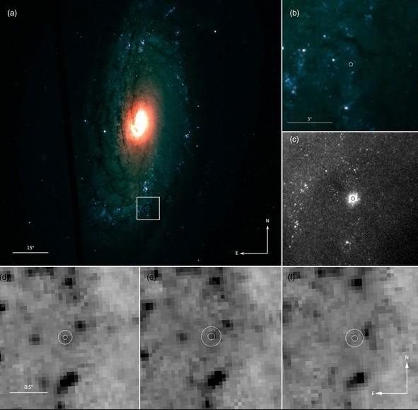 Положение сверхновой iPTF13bvn в галактике NGC 5806
