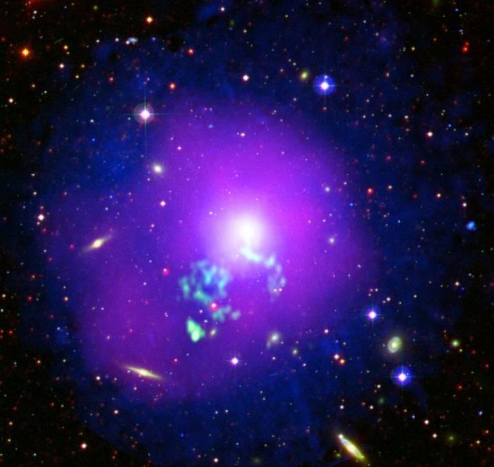 Скопление галактик NGC 5044.