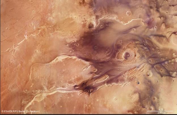Общий вид каньона Kasei Valles.