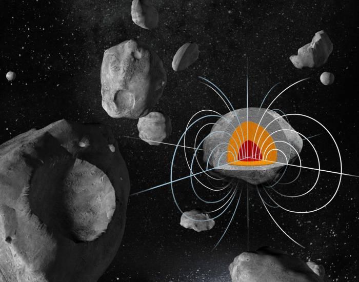 Огромный металлический астероид Психея может иметь сильное остаточное магнитное поле.