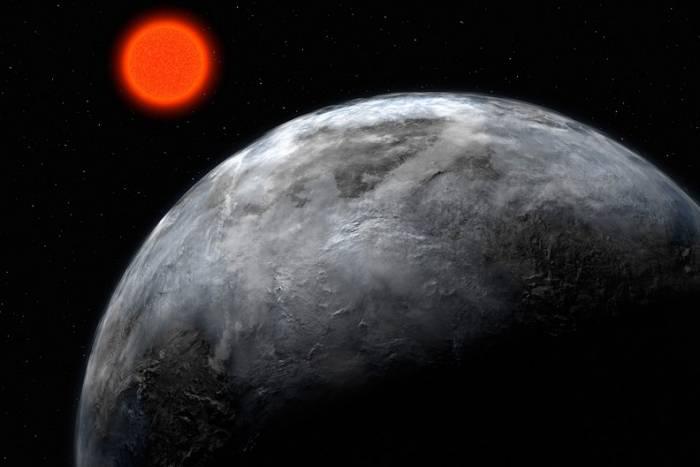 Землеподобная планета на орбите красного карлика.