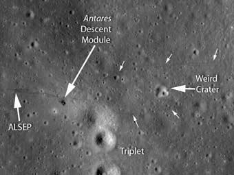Зонд LRO подтвердил, люди были на Луне