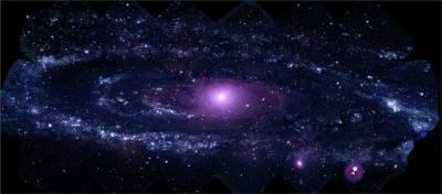 Новая фотография галактики Андромеды в ультрафиолете