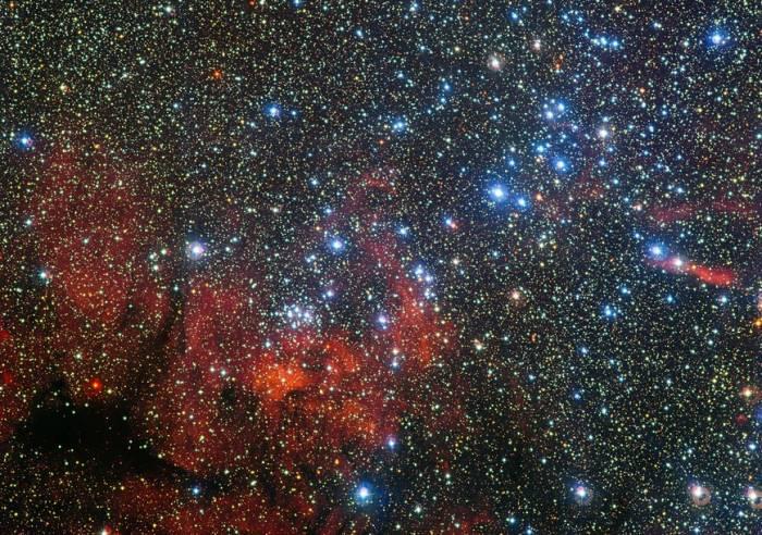 Рассеянное звездное скопление NGC 3590.