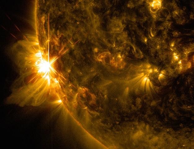 Вспышка на Солнце 10 июня 2014 года.