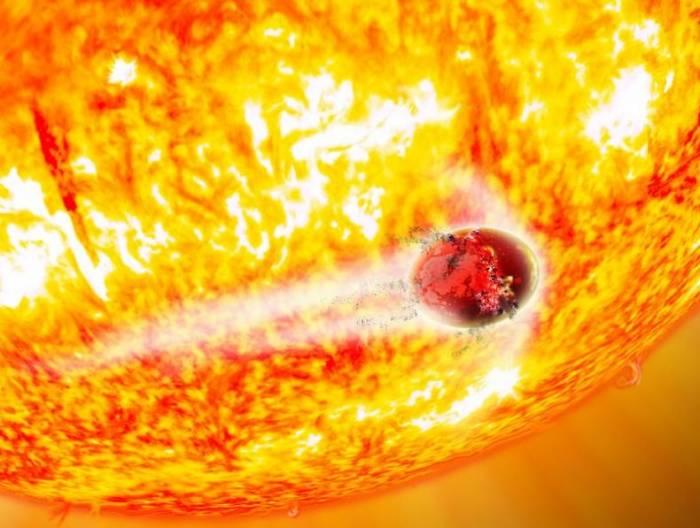 Экзопланета Kepler-56b глазами художника.