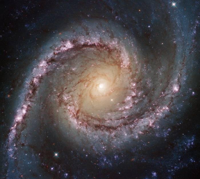 Спиральная галактика NGC 1566.