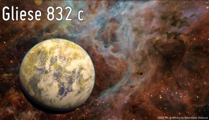 Экопланета Gliese 832c.
