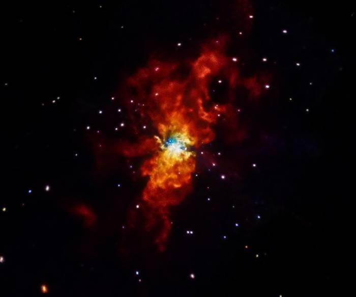 Сверхновая SN 2014J.