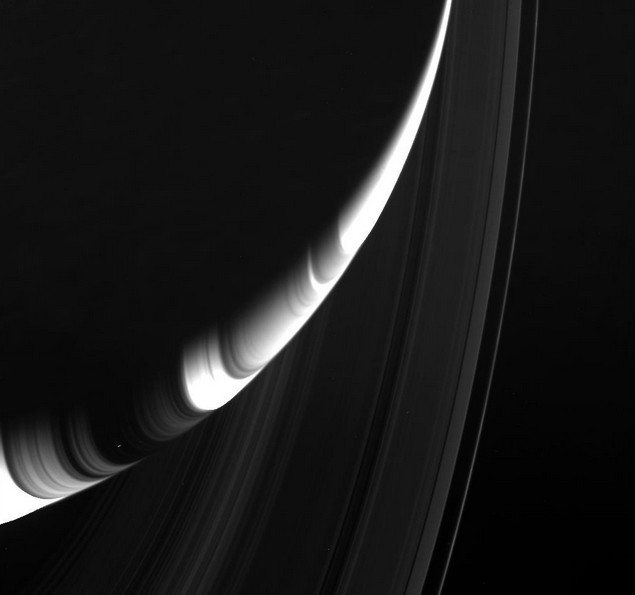 Кольца Сатурна. Снимки выполнены 19 августа 2014 года.