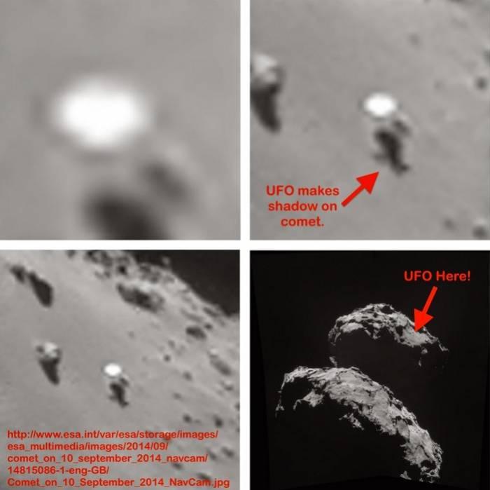 Загадочный объект на поверхности кометы 67P/Чурюмова-Герасименко.