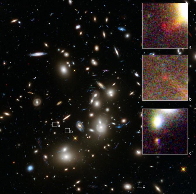 Одна из самых далеких и маленьких галактик.