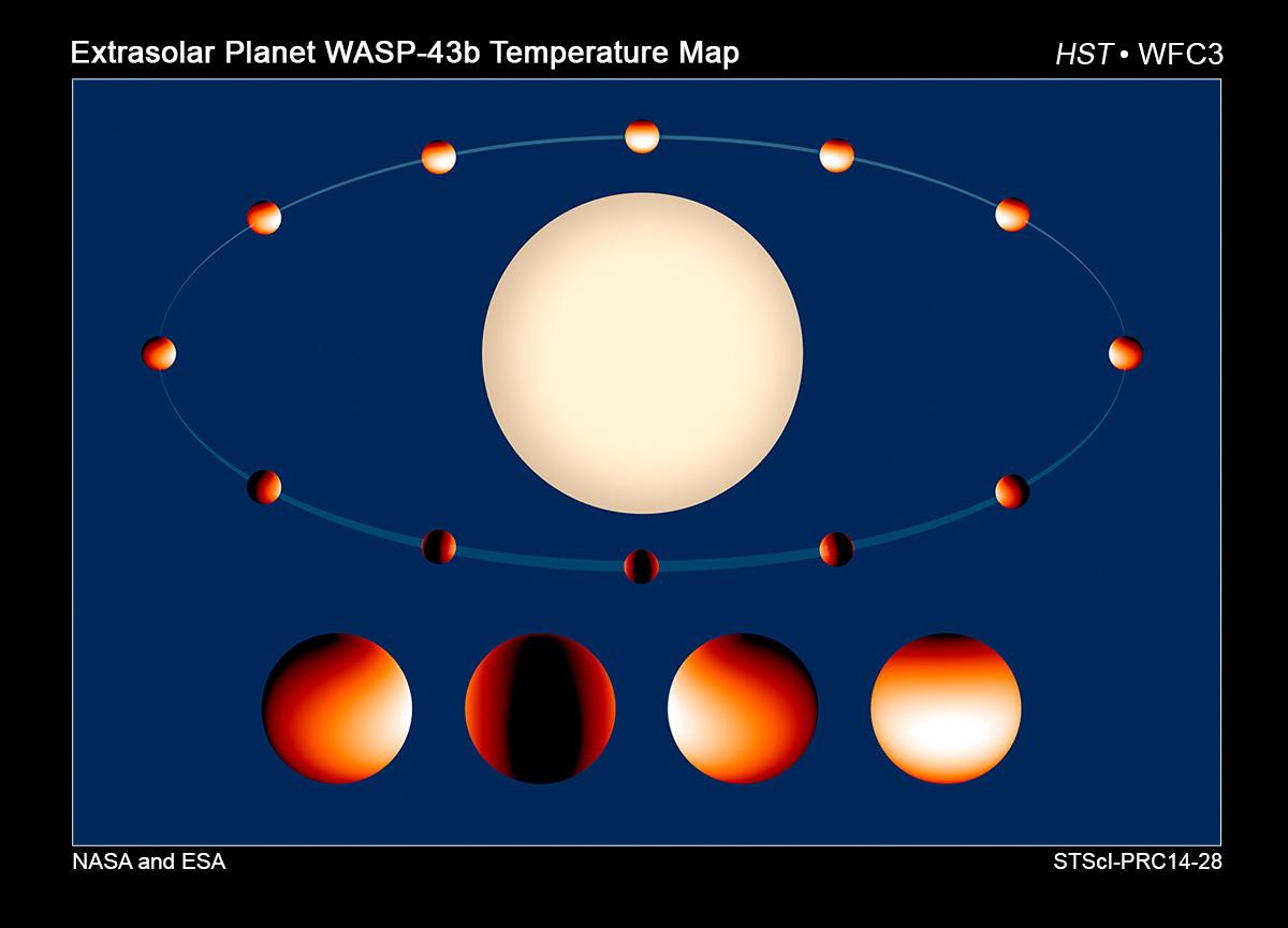 Астрономы создали карту распределения температур у далекой экзопланеты wasp-43b CVAVR AVR CodeVision cvavr.ru