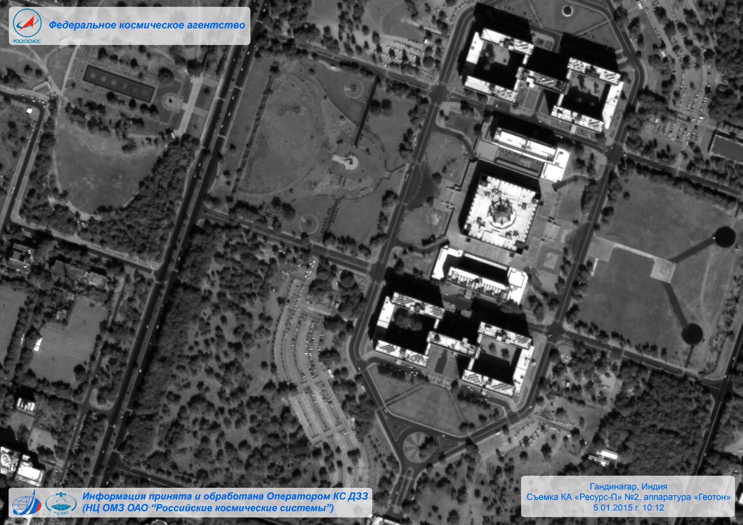 """Первые фотографии космического аппарата """"Ресурс-П""""."""