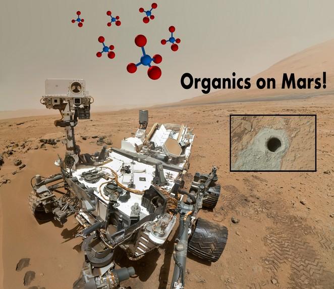 На Марсе обнаружены признаки жизни.