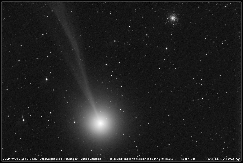 Комета c/2014 q2 (lovejoy) прошла на фоне звездного скопления М 79 CVAVR AVR CodeVision cvavr.ru