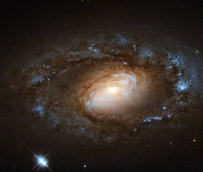 Спиральная галактика NGC 4102.