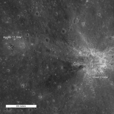 Зонд LRO сфотографировал место посадки Аполлона-11