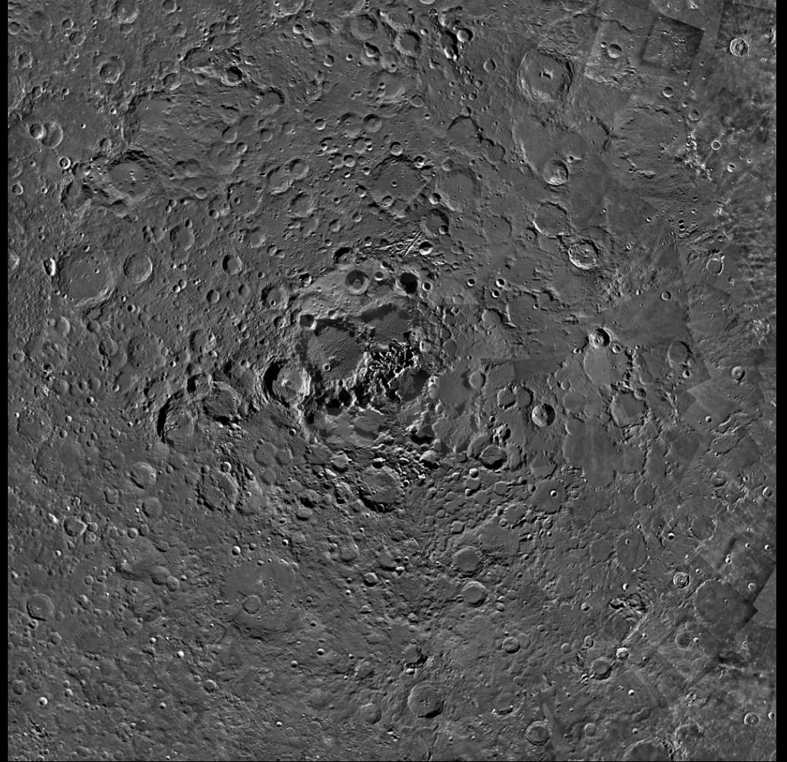 Северный полюс Луны глазами европейского лунного зонда