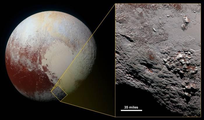 Специалисты NASA опубликовали снимок криовулкана наПлутоне