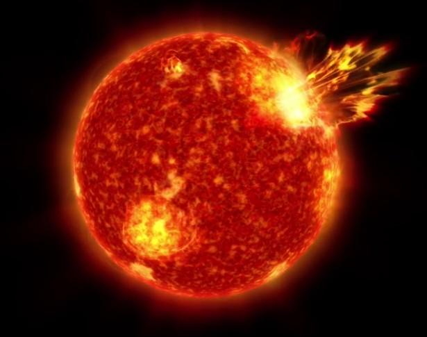 Супервспышка на молодом Солнце.