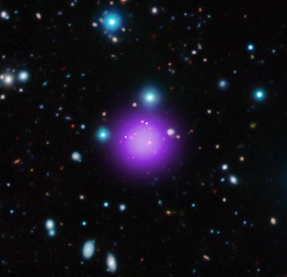 Астрономы отыскали древнейшее скопление галактик воВселенной