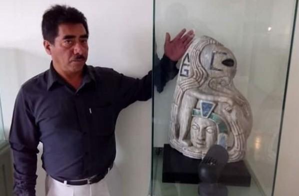 Около древнего города майя обнаружена статуя странного существа.