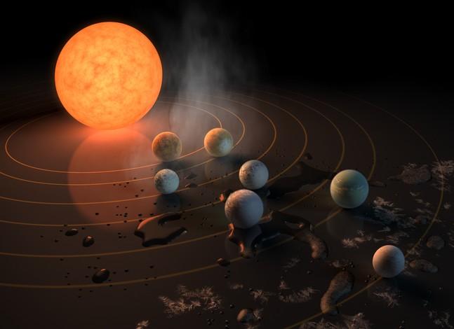«Семь сестер» системы TRAPPIST-1.