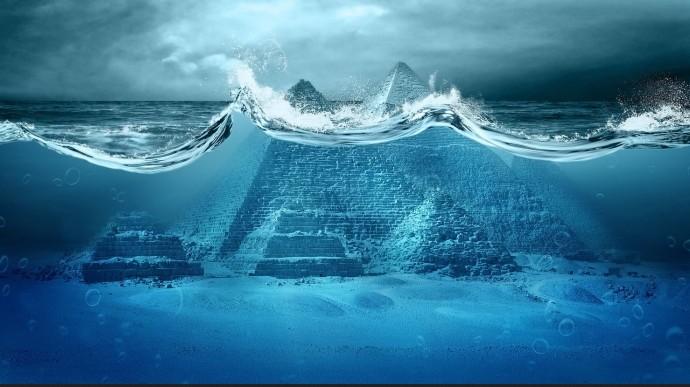 Надне Атлантического океана врайоне Бермудского треугольника найден старинный город