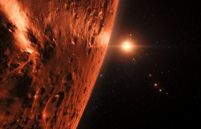 Система TRAPPIST-1 глазами художника.