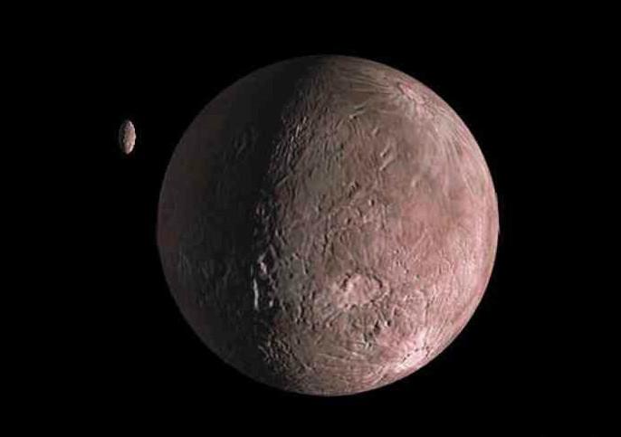 Ученые обнаружили спутник уодной изкрупнейших карликовых планет Солнечной системы