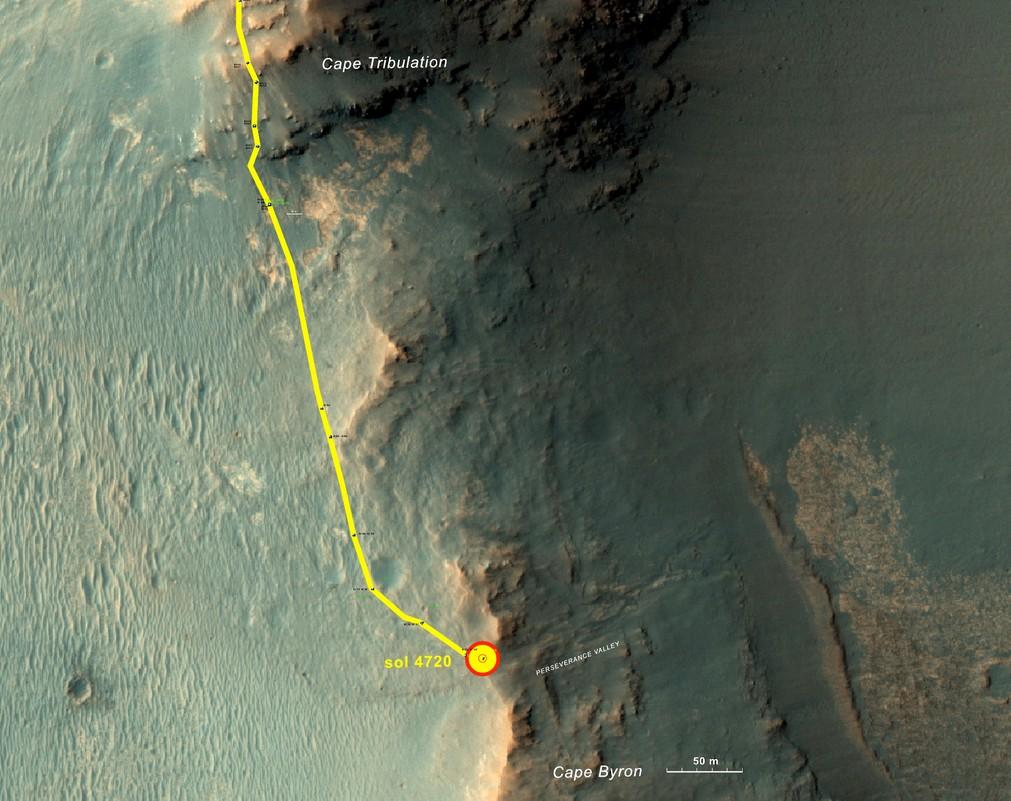 Марсианский ровер Opportunity начинает исследование Долины Настойчивости
