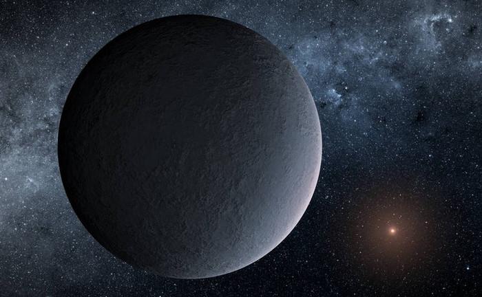 Планета OGLE-2016-BLG-1195Lb в представлении художника.