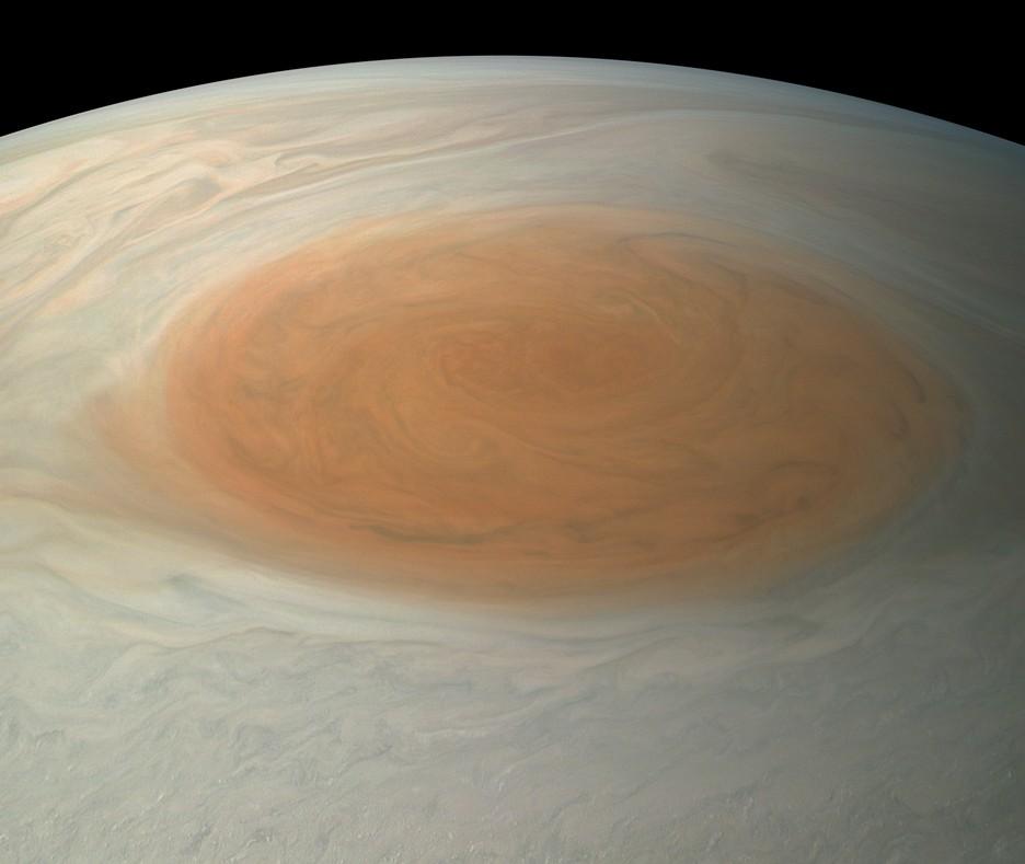 NASA впервый раз показало настоящий шторм наЮпитере