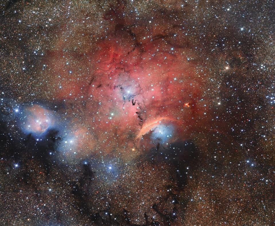 Телескопы ESA запечатлели удивительно красивые «звездные ясли» Sharpless 29