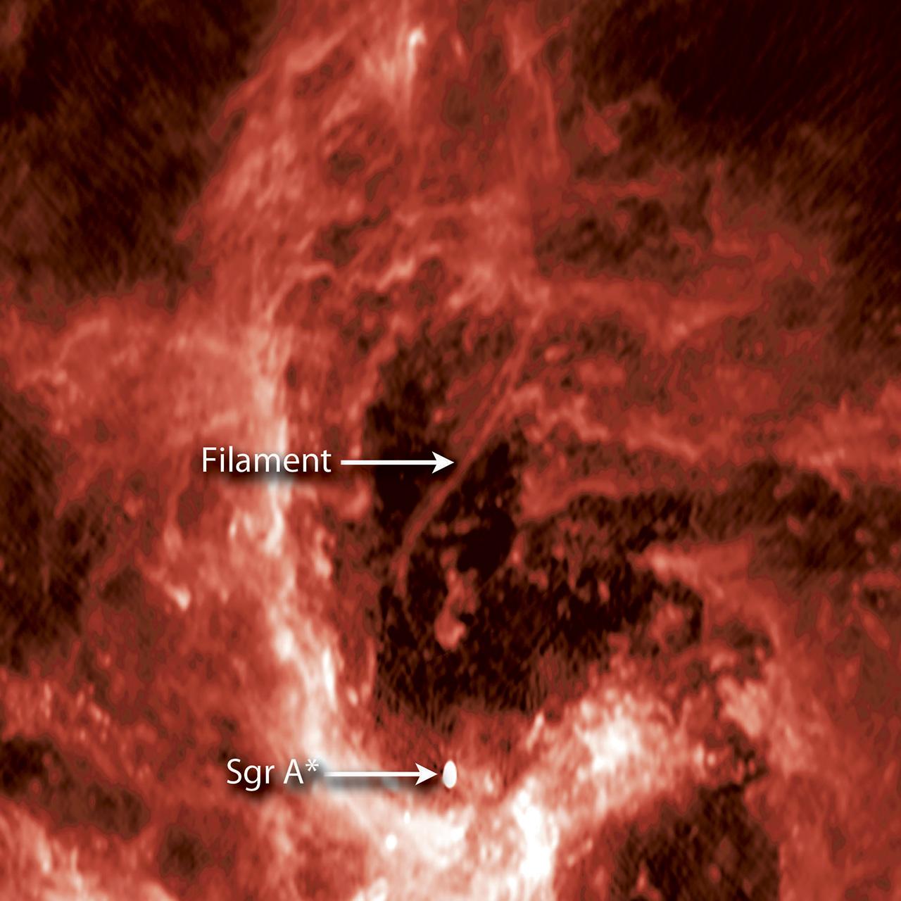 Астрономы получили кадры загадочной «нити» вцентре Млечного Пути