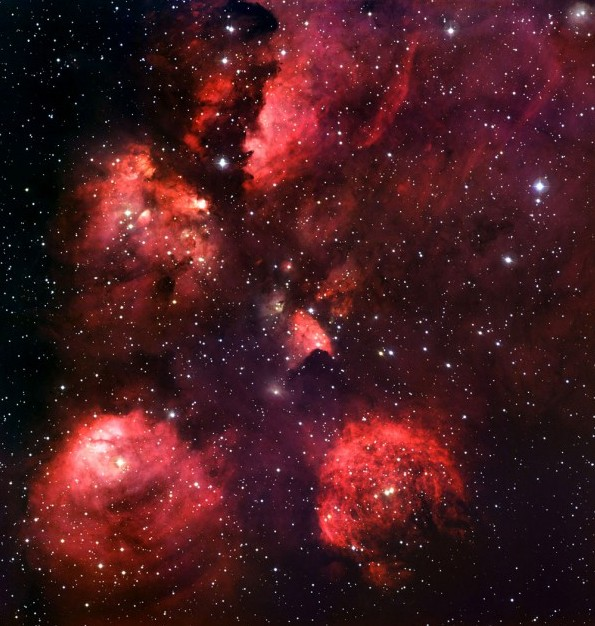 Туманность NGC 6334. Фото ESO