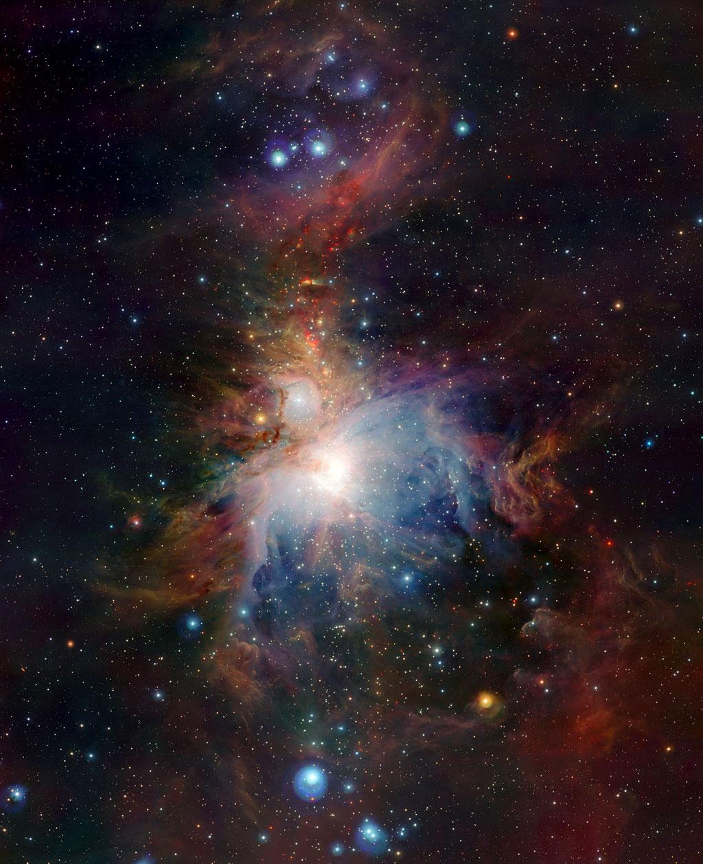 Туманность Ориона (M 42) от телескопа VISTA. Credit: ESO
