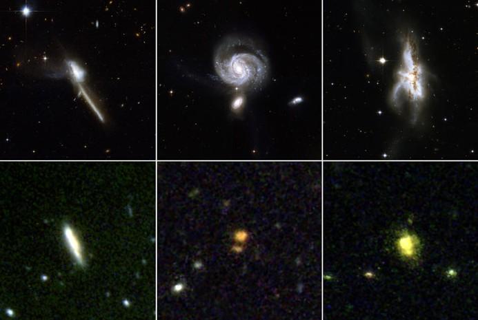 Астрофизики установили, что квазары возникают в результате слияния галактик.